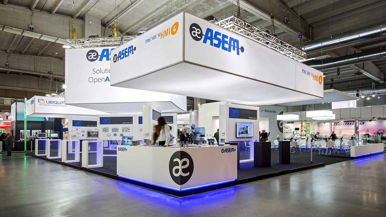 Bottega - Dettaglio allestimento stand ASEM per l'edizione 2013SPS IPC Drivers Italia di Parma