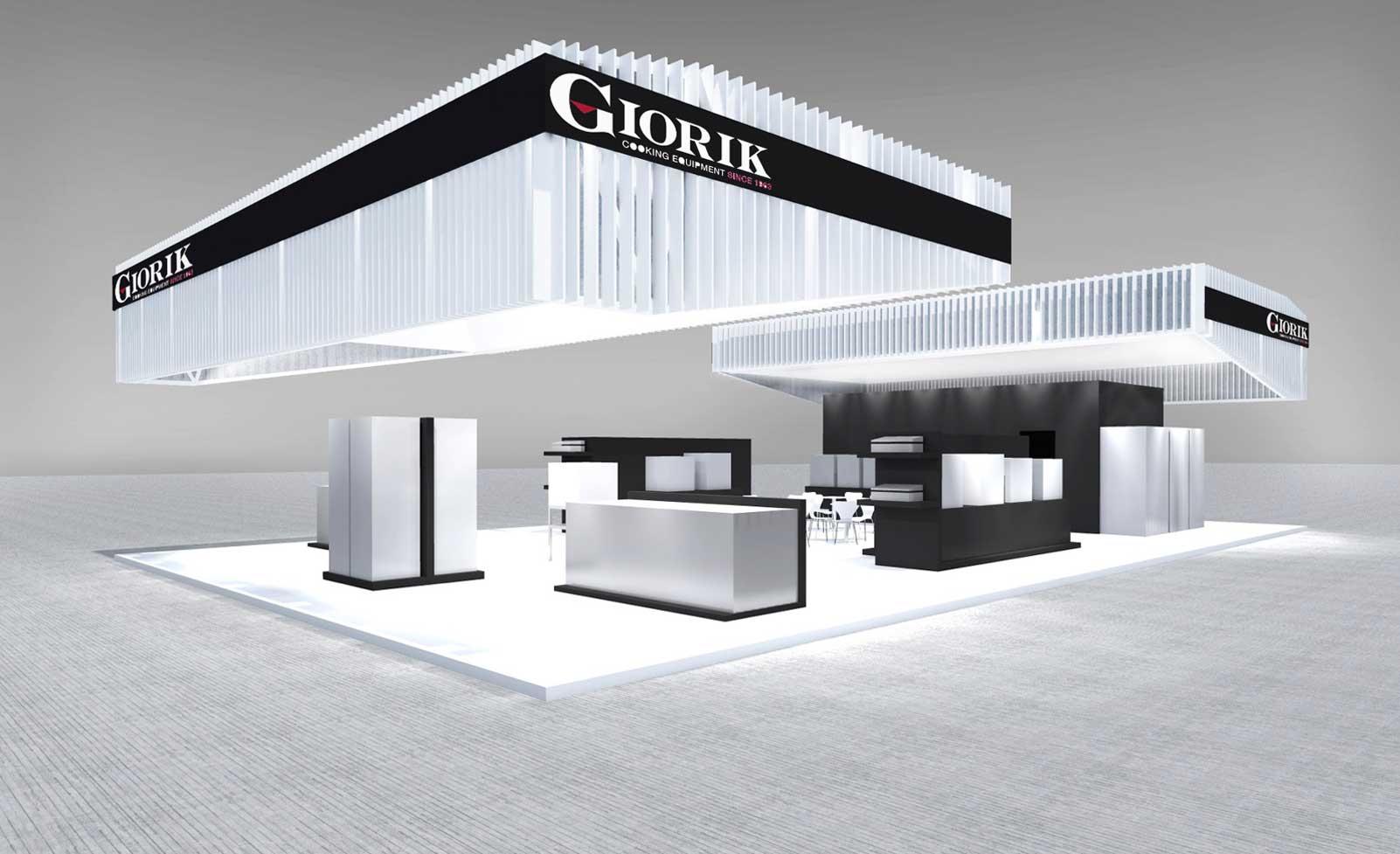 Stand futuristico per il settore ristorazione bottega for Arredo stand