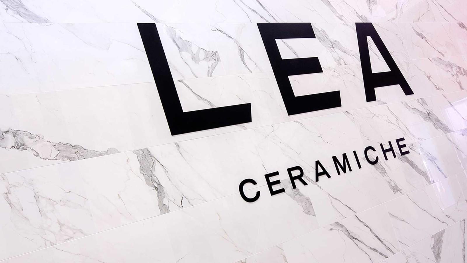 Bottega - Dettaglio allestimento stand Lea Ceramiche per l'edizione 2015 del Cersaie di Bologna