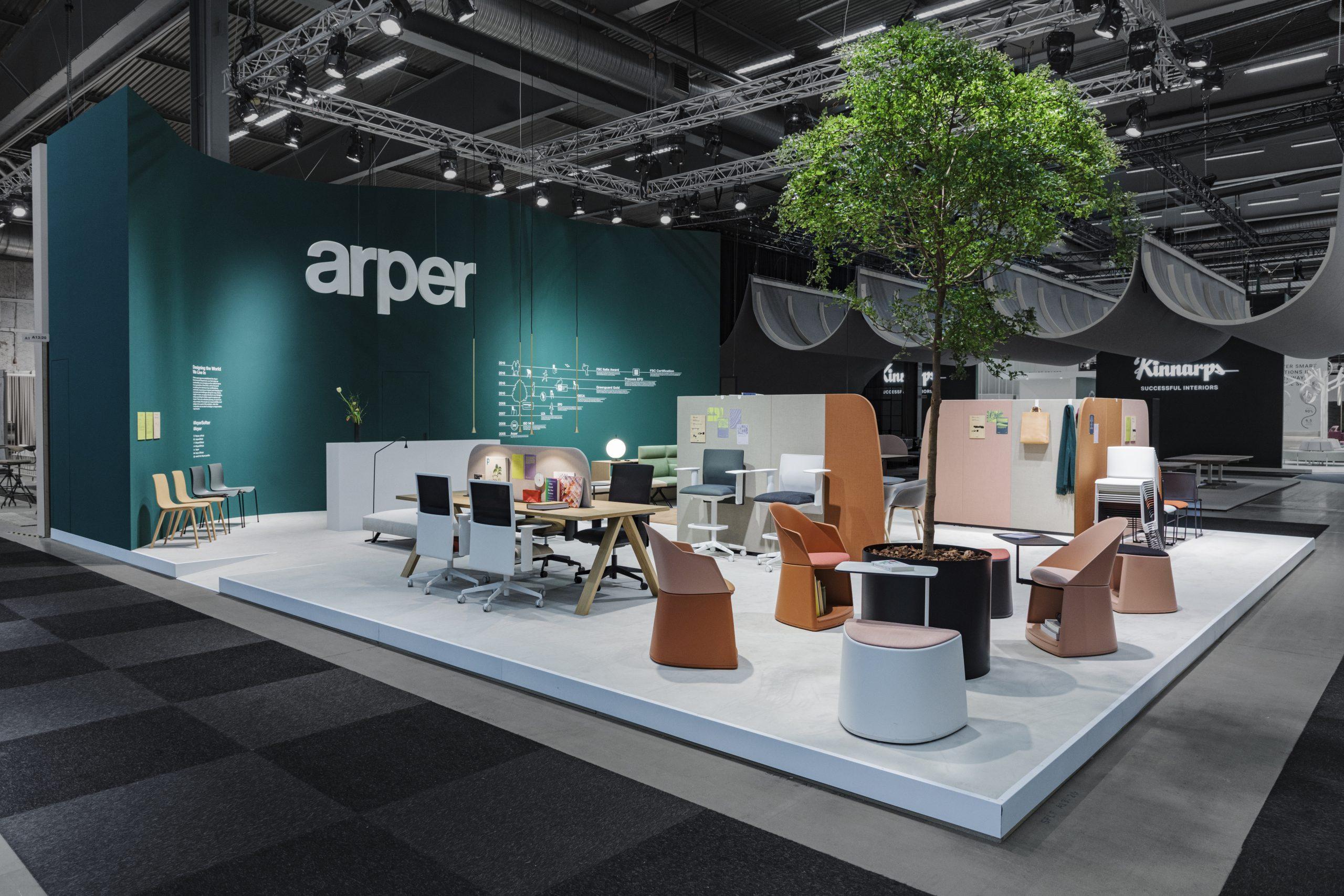 Stand Arper -Stoccolma 2020- La Bottega Group RUNE LUNDOE PHOTOGRAPHY