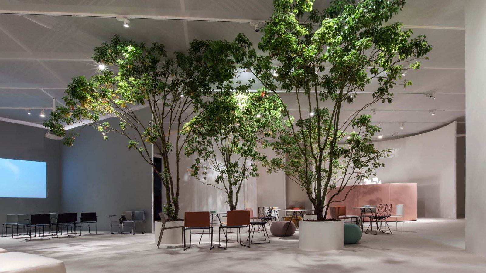 Bottega - Dettaglio allestimento stand Arper per l'edizione 2019 del Salone del mobile di Milano